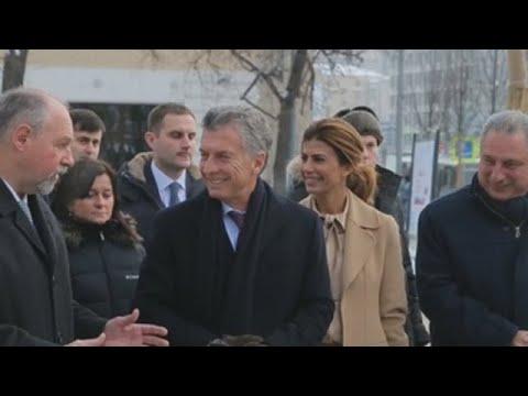 Mauricio Macri inaugura la Plaza de Argentina en Moscú