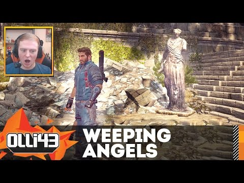 SCARY WEEPING ANGELS? (Just Cause 3 Easter Egg)