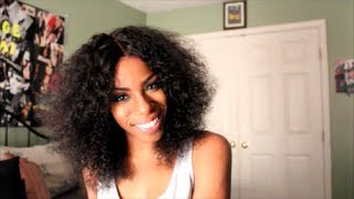 Solange Inspired Hair│Kinky Curly Lace Wig