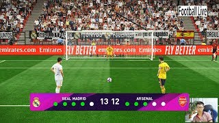 Real Madrid vs Arsenal | Penalty Shootout | PES 2020 eFootball Scoreboard for PES 2019