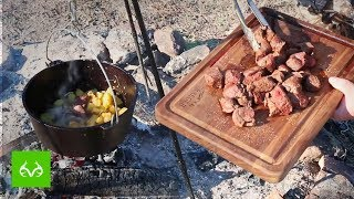 Venison Recipe   BEST Hunting Camp Campfire Meal