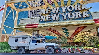 EP:19 FULL TIME TRUCK CAMPING - On The Road Again! LAS VEGAS SHENANIGANS & MY NEW DAGGER KATANA