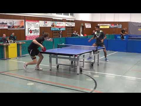 Guman Vs Sriram India DJK Effeltrich Vs Leiselheim 3  Bundesliga Table Tennis 20171104 Stativ 2