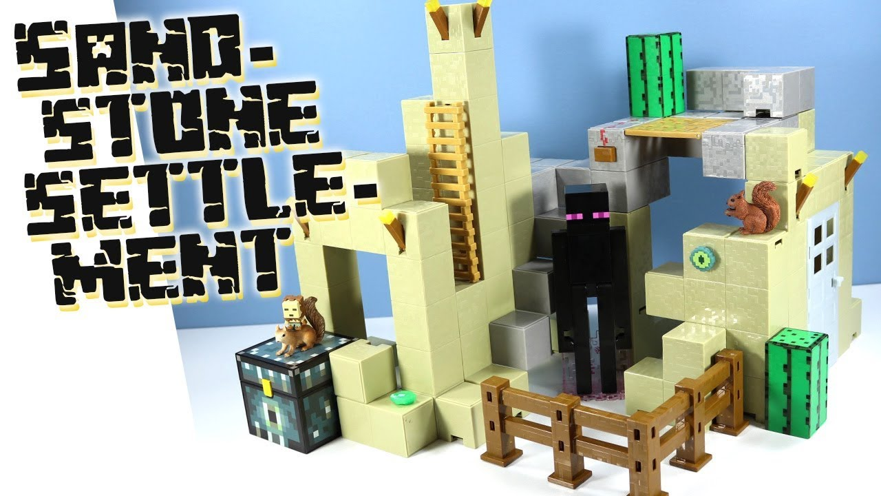 Minecraft Survival Mode Playset Sandstone Settlement Expansion