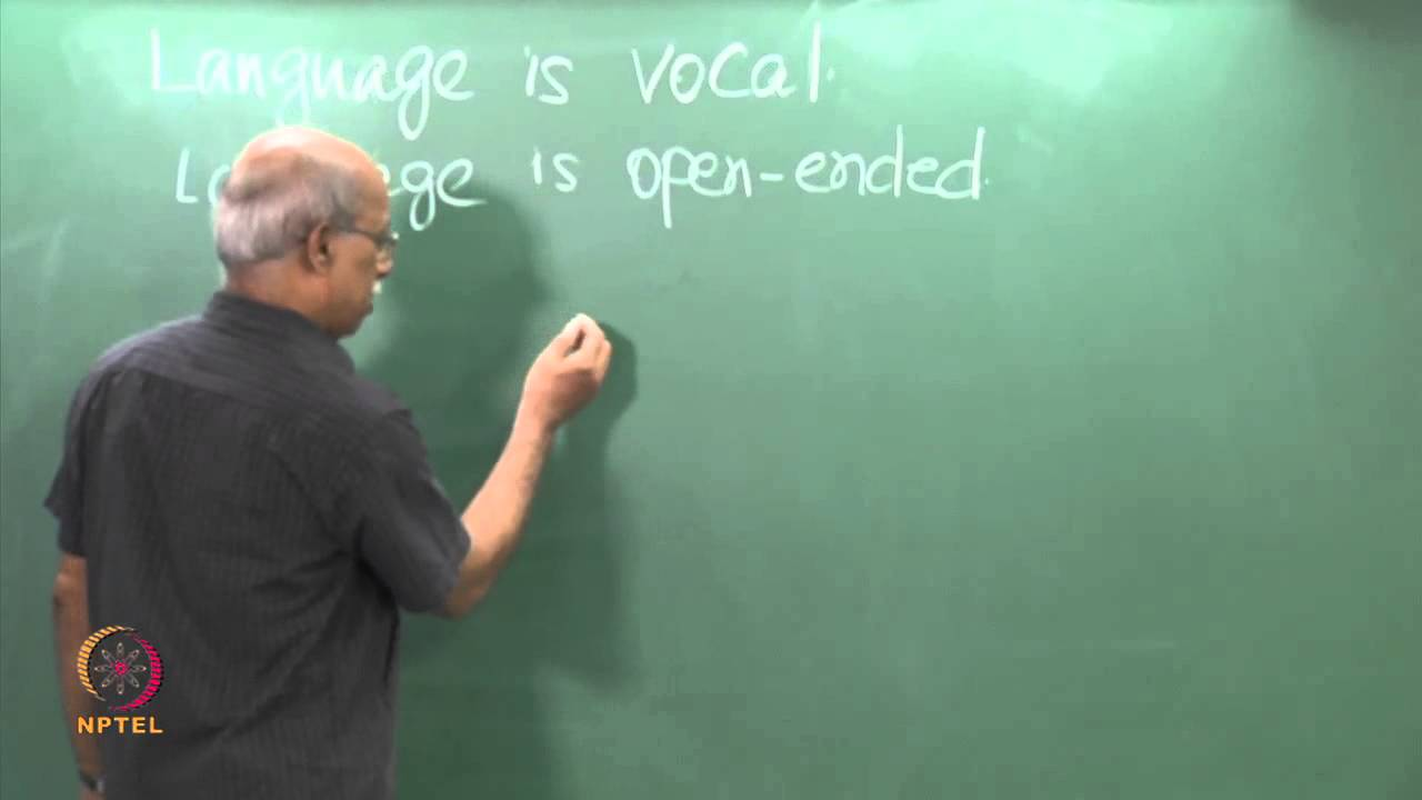 Mod-01 Lec-04 Design  Features of Language-3