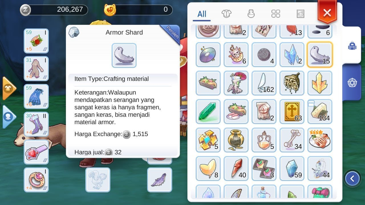 Ragnarok M Enternal Love Drop Item Armor Shard Farming