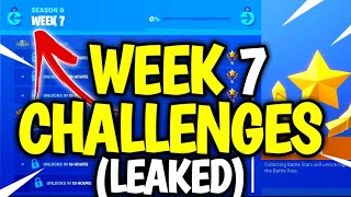 Fortnite WEEK 7 Challenges LEAKED! FORTNITE SEASON 8 WEEK 7 Challenges! Season 8 week 7