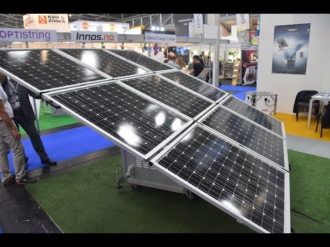 Watch the iKube mobile solar PV generator unfold at InterSolar 2016