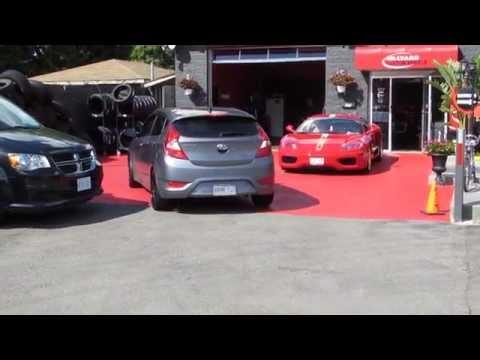 HILLYARD CUSTOM RIM TIRE 2014 HYUNDAI ACCENT HATCHBACK CUSTOM 17 BLACK RED RIMS