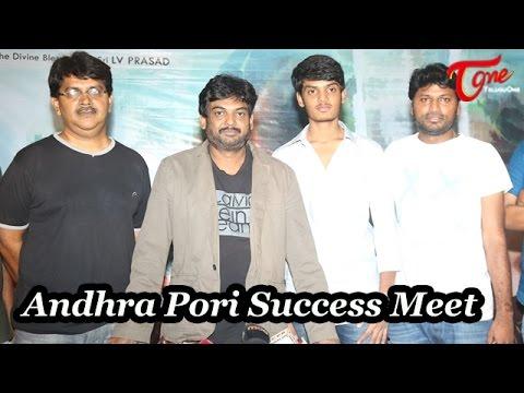 Puri Jagannadh at Andhra Pori Movie Success Meet