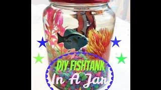 DIY AQUARIUM IN A JAR! SO EASY!
