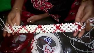 mallikappu Knot garland - மல்லிகை பூ முடிச்சு மாலை - Part - 1