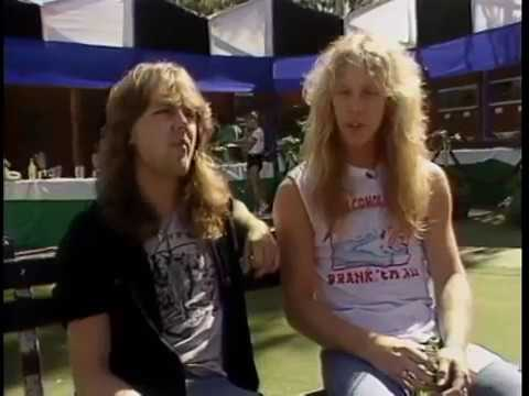 Metallica - James & Lars Interview (MTV - Day On The Green 08/31/1985)