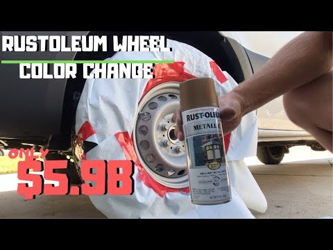 How to Paint your Wheels! Using RUSTOLEUM to Paint my wheels for only $5.98!!! | DIY