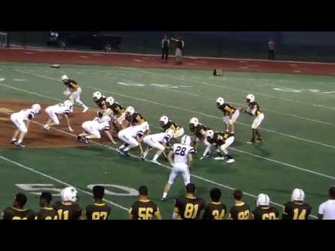 North Farmington HIgh School Raiders football #9 touchdown against Seaholm Maples, September 4, 2015