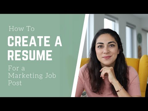 HOW TO CREATE A RESUME FOR MARKETING: Recipe For A Winning Resume