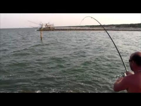 pesca con canna fissa dagli scogli