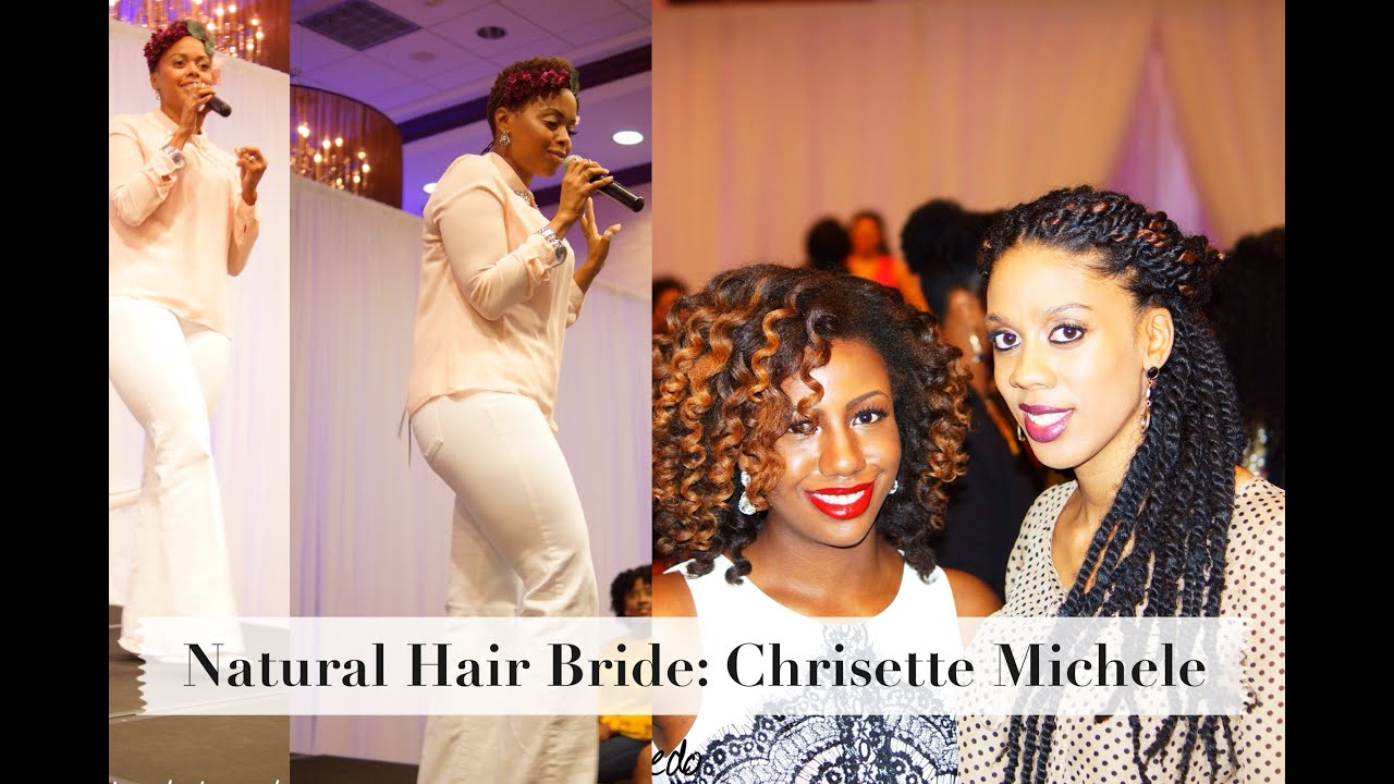 chrisette michele at natural hair bride