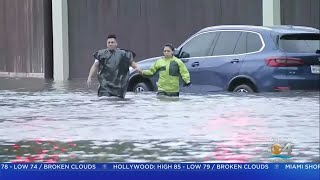 Rain From Tropical Storm Imelda Flooded Houston Area