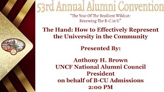 Day 1.3  The Hand : How to Effectively represent the University in the Community