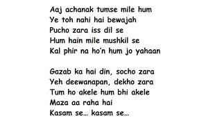 Download lagu GAZAB KA HAI DIN Full Song Lyrics Movie – Dil Juunglee | Jubin Nautiyal, Prakriti Kakar