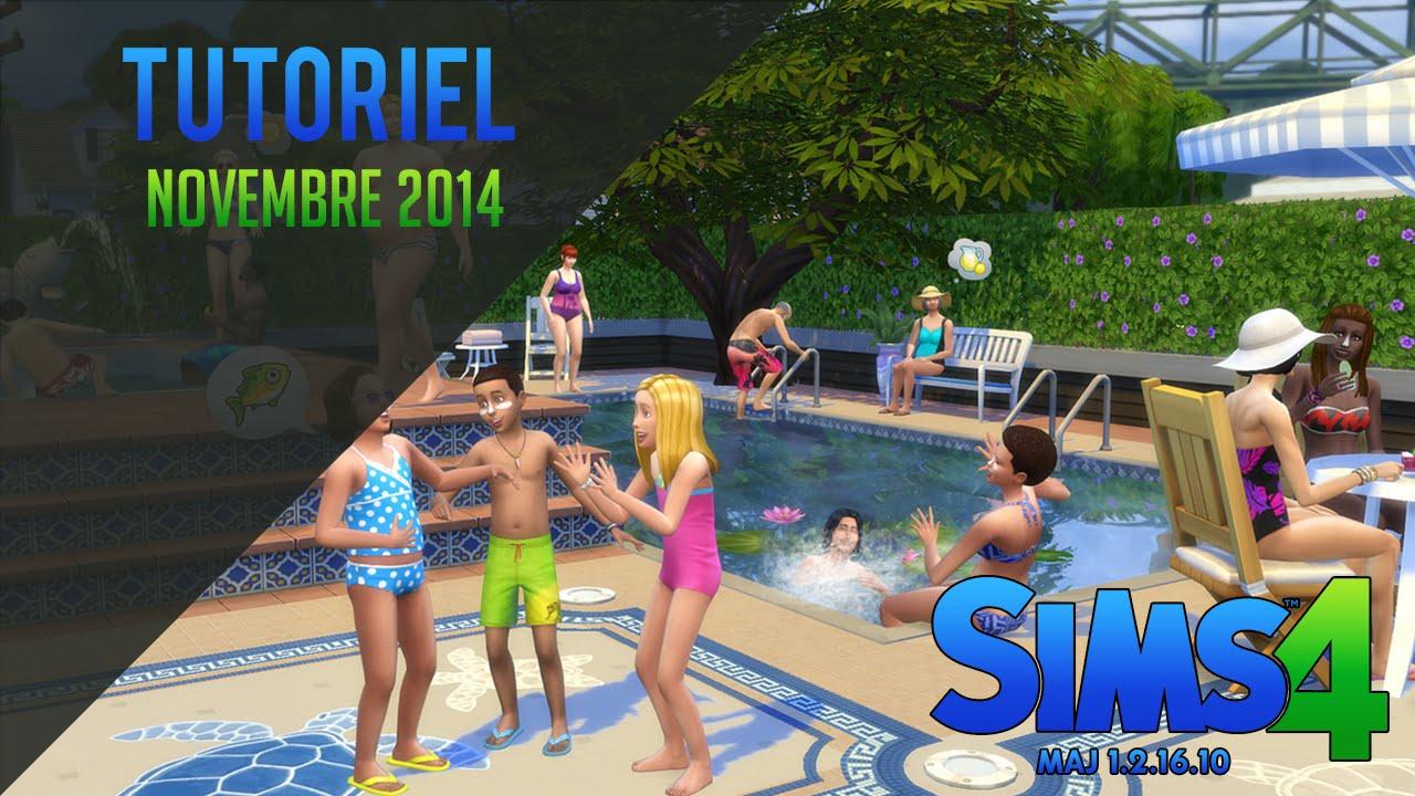 Fr mettre jour les sims 4 1 piscine youtube for Sims 4 piscine a debordement