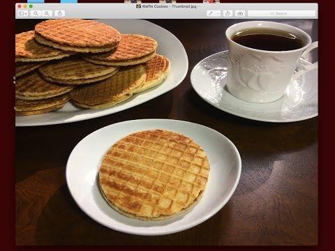 Stroopwafel - Dutch Caramel Waffles - Stove-top Method