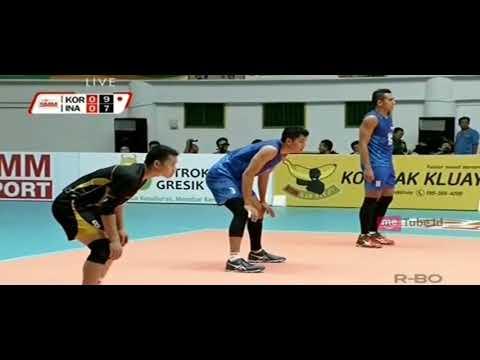 Voly Ball Putra Indonesia Vs Putra Korea|pertarunga Sengit
