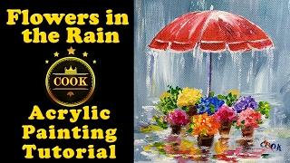 Video Flowers in the Rain with Ginger Cook - Acrylic Painting Tutorial for Beginners - Cookie Crumbs Live download MP3, 3GP, MP4, WEBM, AVI, FLV Maret 2018