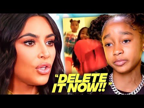Download Kim Kardashian THREATENS Little Kid Over North West Video?!