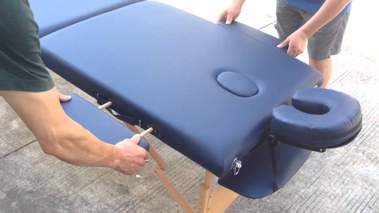 How to set up a portable massage table :Step 4