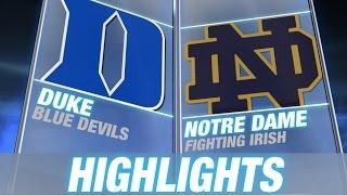 Duke vs Notre Dame | 2015 ACC Men