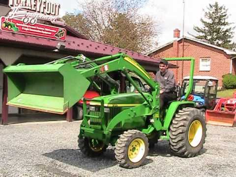 john deere 790 tractor 300 loader on ebay youtube. Black Bedroom Furniture Sets. Home Design Ideas