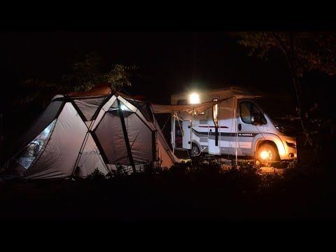 【車中泊・ドローン空撮】キャンピングカーでオートキャンプ/ひだ流葉オートキャンプ場