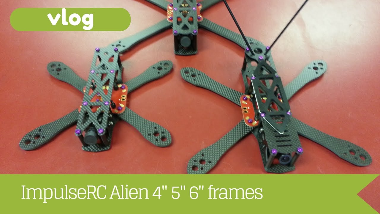 ImpulseRC Alien 4 5 6 inch frames - YouTube
