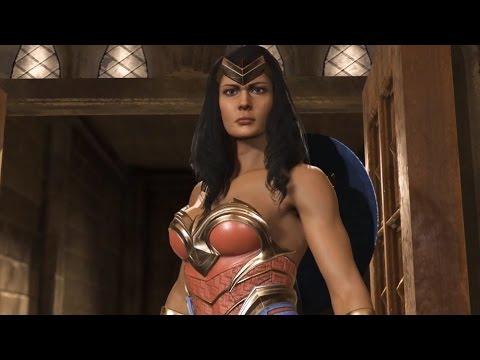 Injustice 2 - Batman vs Wonder Woman (Story Battle 2) [HD]