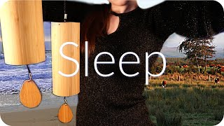 ASMR Sleep Meditation 🌧 Koshi Chimes, Rain, Nature, Ear to Ear Gentle Sounds 🌊(Study, Work, Sleep)