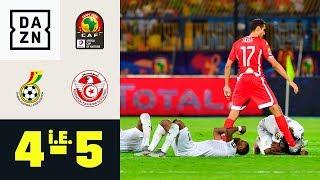 Trotz Last-Minute-Ausgleich, Black Stars scheiden aus: Ghana - Tunesien 4:5 n.E. | Afrika Cup | DAZN