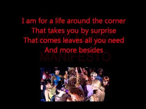 Roxy Music - Manifesto (lyrics)