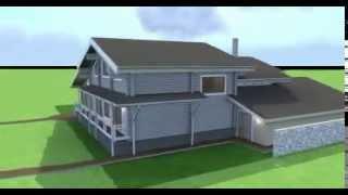 видео Удобный одноэтажный жилой дом с  баней и гаражом  C-240-ТП