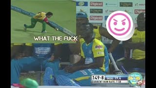 Rashid Khan Made Darren Sammy Fool In CPL 2017 - Sammy Angry On Rashid - TKR vs Patroits