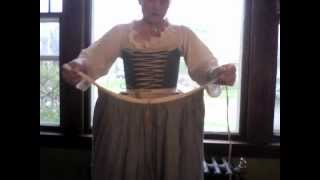 18th Century Petticoats- How To Get Dressed.