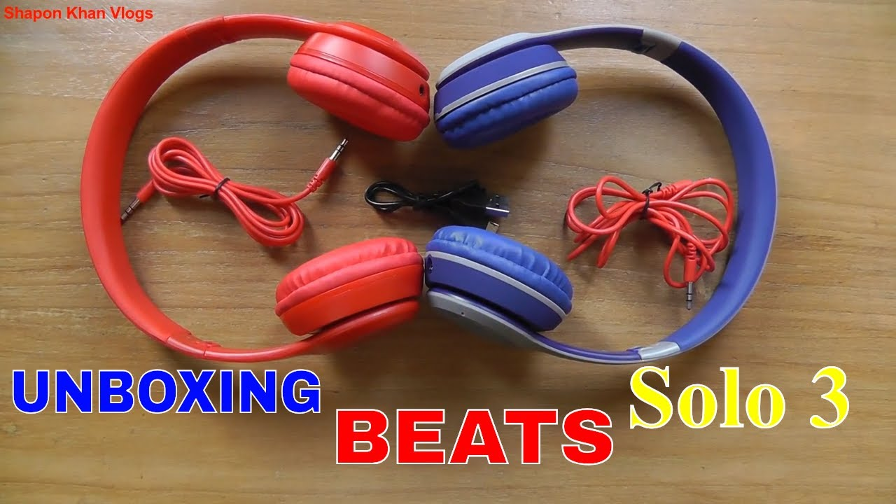 Beats Solo 3 Unboxing Beats Bluetooth Headphones Price In Bd Shapon Khan Vlogs Youtube