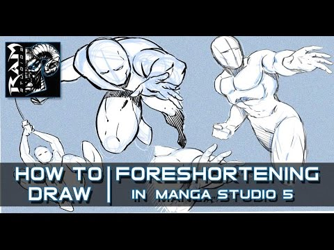 How to Draw Foreshortening for Comics  - Video Narrated by Robert Marzullo