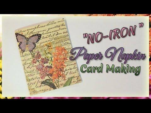 """No-Iron"" Paper Napkin Card Making"