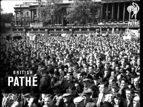 May Day Demonstration In London, Including Meeting Of The London Trades Council (1949)