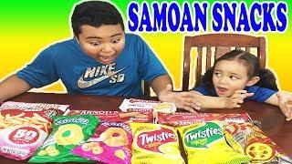 Taste Test | Snacks from Am. Samoa | Cookies & Chips