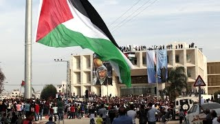 Filistin'in en yüksek bayrağı dikildi