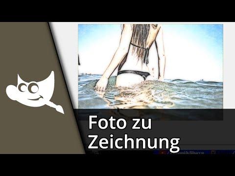 Gimp 2.8 Tutorial | Foto wie Zeichnung aussehen lassen [Deutsch/HD]