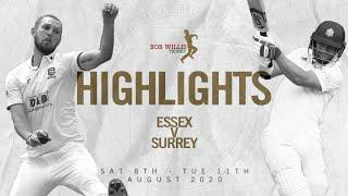 Surrey set big final day chase! | Essex v Surrey - Bob Willis Trophy - Day Three highlights